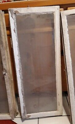 altes Glas Fenster Holzfenster Fensterflügel  Antik Shabby Deko  93 x 37  #4