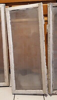 altes Glas Fenster Holzfenster Fensterflügel  Antik Shabby Deko  93 x 37  #5