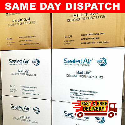 Genuine Featherpost Padded Bubble Envelopes Bags Gold & White - Quality Mailers