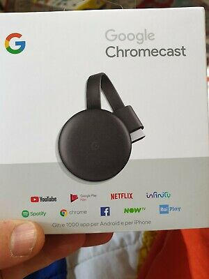 Google Chromecast Video 3 Hdmi Streaming Video Media Player Nuovo