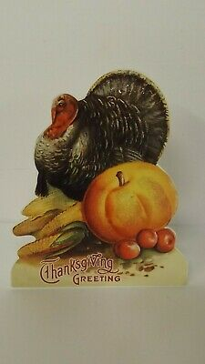 Bethany Lowe Thanksgiving Turkey Thanksgiving Greeting Dummy Board RL6846 New