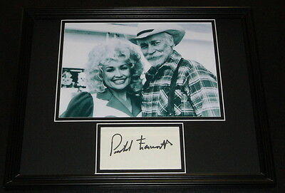 Richard Farnsworth Signed Framed Photo Display Rhinestone w/ Dolly Parton