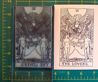UM TAROT CARD rubber stamp #5 The Hierophant full size
