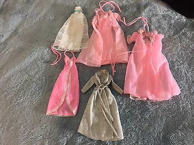 Vintage 80s Barbie Clothing Fashion Nightgowns Sleepwear Lot Of 7