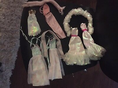 Vintage 80s Barbie Clothes Fashion Glam Formal Iridescent Lot Of 10 Dresses More