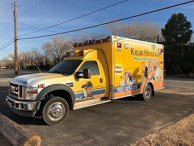 2008 Ford F450 Super Medtec Ambulance wheelchair lift medical office/clinic
