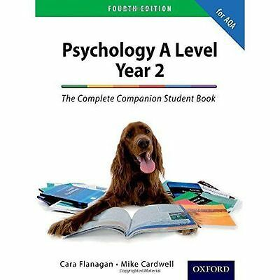 The Complete Companion for AQA Psychology A Level : Year 2 Fourth Edition    NEW
