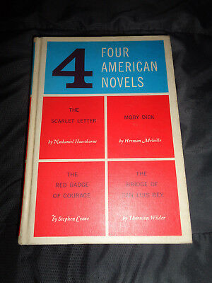 Book:Hardcover: 4 American Novels: Scarlet Letter/Moby Dick/ Red Badge/ The Bird