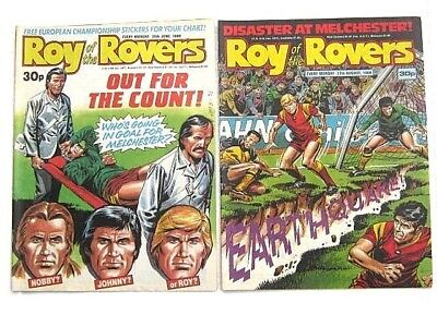 2 x ROY of the ROVERS COMICS. JUNE, AUG 1988. BILLYS BOOTS, JIMMY, GOALKEEPER