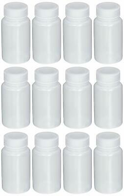 Azlon 301665-0002 60mL 2oz, Wide Mouth Plastic (LDPE) Lab Sample Bottle 12Pack