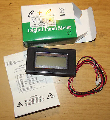 Panel-Meter PM435, Einbaumessinstrument, digital, 78x42mm, LCD universal