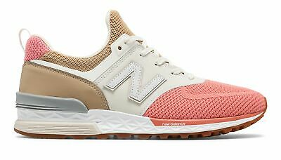 brand new 0207c c58e5 NEW BALANCE MEN'S 574 Sport Shoes Tan with Pink