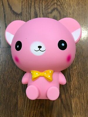 Cute Marshmallow Slow Rising Stress Relief Relieve Scent Pink 6 in Bear
