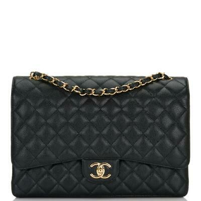 8cae9baebfc04c CHANEL BLACK QUILTED Caviar Maxi Classic Double Flap Bag - $7,475.00 ...