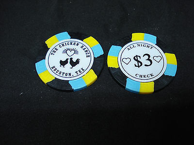 Chicken Ranch Houston TX Brothel Collectors Poker Chip Cathouse Whore House Blac