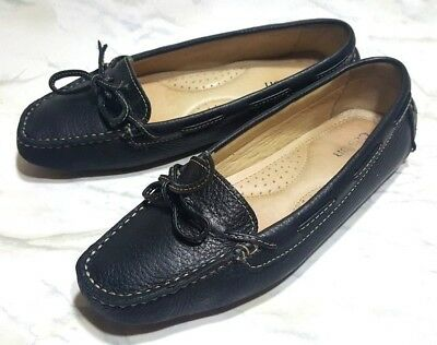 73f56a52b89 WOMEN S SHOES CASLON Slip On Loafers Lace W95713 Navy Blue Leather ...