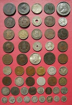 Bulk Job Lot Old World Coins Medals & Tokens - 113g Silver - Some Scrap