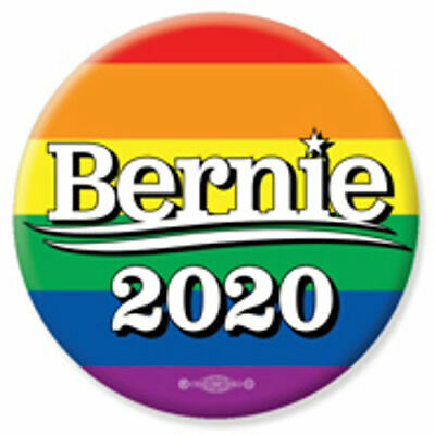 Bernie Sanders For President 2020 Rainbow 2.25 Inch Pinback Button Pin