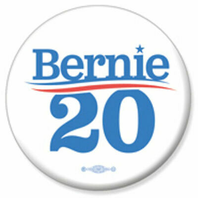 Bernie Sanders For President 2020 White 2.25 Inch Pinback Button Pin
