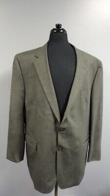 JOS. A. BANK Gray Checked Wool Lined Two Button Blazer Jacket Size 50L GG2799