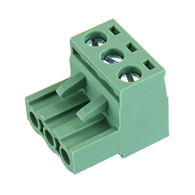 2 EDG 5.08mm Pitch 3Pin Plug-in Screw PCB Terminal Block Connectore