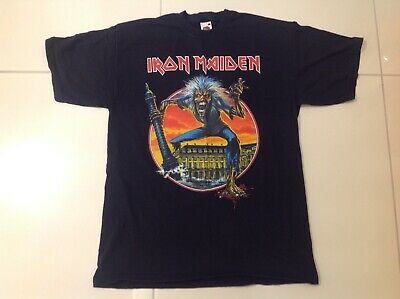 Iron Maiden somewhere back in time Paris t shirt, size large