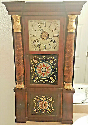 Antique Seth Thomas PLYMOUTH HOLLOW Weight Driven TRIPLE DECK Column Shelf Clock