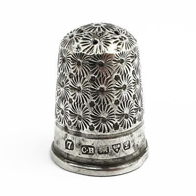 Antique CHARLES HORNER STERLING SILVER THIMBLE Chester 1911