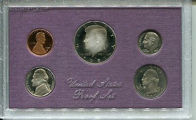 1987S US Mint Proof Coin Set, With original box and COA