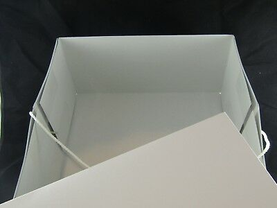 White Hat Box (14x14x7) with Corded Carrying Strap.....NEW