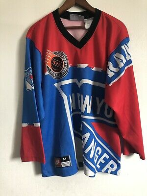 ed45f6dd1f9 Vintage Nike Mens New York Rangers NHL Hockey Jersey Size M All Over Print