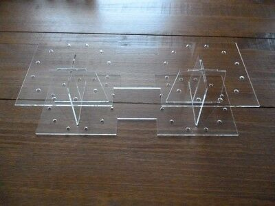 Cake pop acrylic SQUARE stand display 2 tier