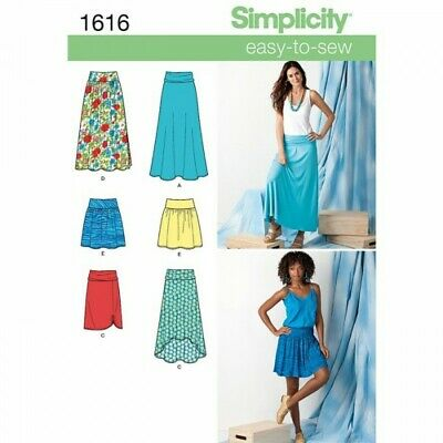 Misses' Knit or Woven Skirts Fabric Sewing Patterns 1616