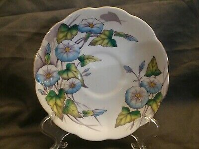 Royal Albert Hand Painted Flower Of Month #9 Morning Glory Replacement Saucer