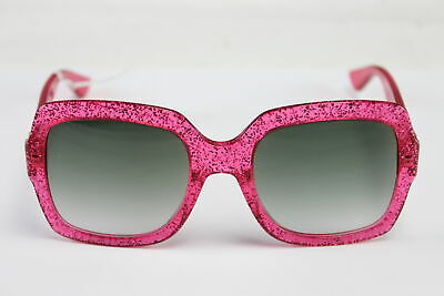 c73c824d161 NWT  150 GUCCI GG-0036 S Authentic Designer Frames Pink Sunglasses