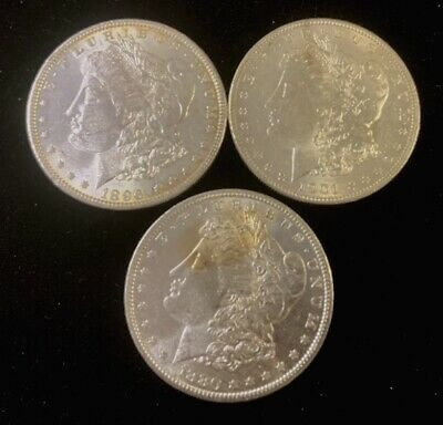 1878-1904 Morgan Silver Dollars Awesome Condition Quickship, Coins-#T10