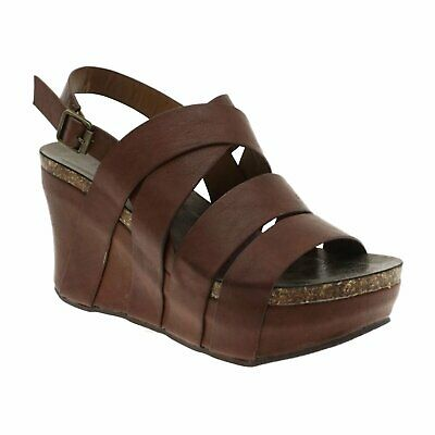 a8f1c9bf6719 Women s Shoes Pierre Dumas HESTER-19 Strappy Platform Wedge Sandal 22629  WHISKEY