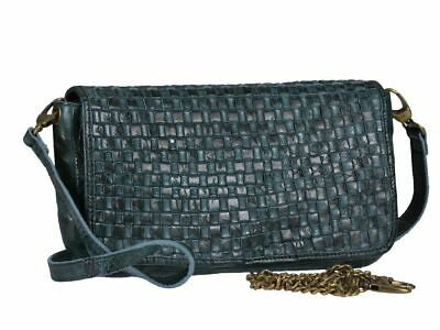 9b1ae8964a Pelle Clutch Borsa Donna Tracolla Blu Borsetta da Sera Billy The Kid  Caramelle