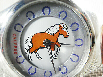 Divertido Calypso De Lotus  Esfera Giratoria Con Caballo Fin Stok  Lote Watches