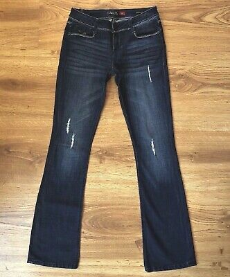 a888b42a4 People Liberation Bootcut Low Rise Distressed Stretch Jeans Womens Size 26