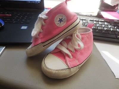 fbe88fcbf588 Converse All Star Shoes Size 4 Baby Pink Crib Girls Soft Bottoms Chuck  Taylor