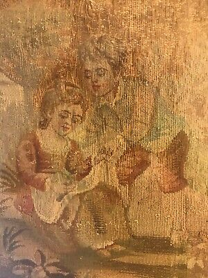 Aubusson Tapestry 19th Cent  Children Caring For Bird  SUBMIT BEST OFFER FRAMED!