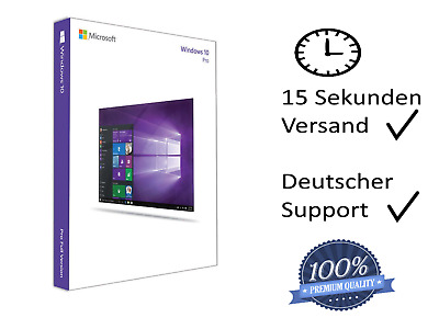 Microsoft Windows 10 Professional, Win 10 Pro Key, Produktkey per Email Sofort