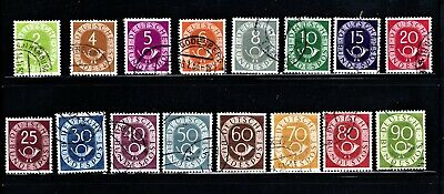 Hick Girl Stamp- Beautiful Used German Stamps  Numbers 1951 Issues     M946