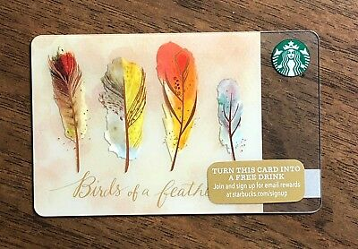 "Starbucks Gift Card 2015 ""Birds of a Feather"" Friends BFF Holiday No $ Value"