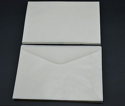 """lot of 50 # 8 GLASSINE ENVELOPES 4 1/2"""" x 6 5/8"""" GUARDHOUSE STAMP COLLECTING"""
