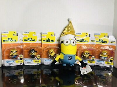 Minions Toy Lot Despicable Me Minions Movie Mini Action Figures 5 New in Boxn