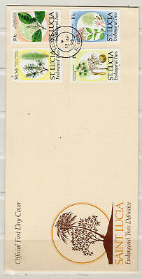 1990 St Lucia Stamps    Used Fdc Cover First Day Issue      Lot 4706