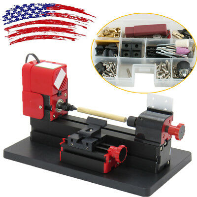 6in1 Lathe Wood DIY Machine Tool Kit Jigsaw Milling Lathe DrillingMultifunction