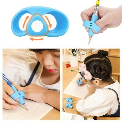 3x Two-finger Grip Silicone Baby Pencil Learn Holder Writing Tools Pen Kids Gift